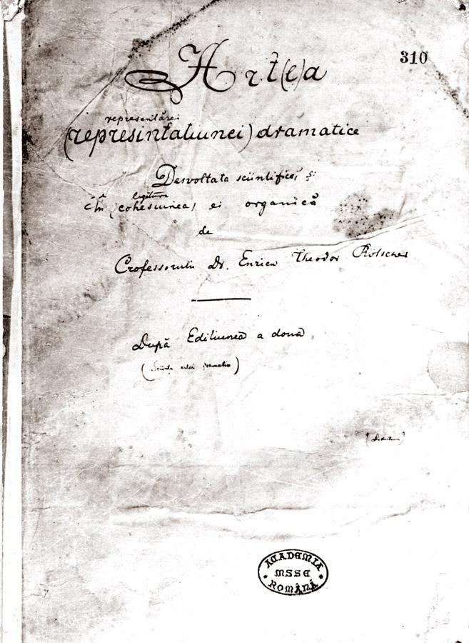 Mihai Eminescu - cronologie opera, pg 1